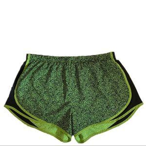 Nike l DRI-FIT Neon Green Black Running Shorts XL